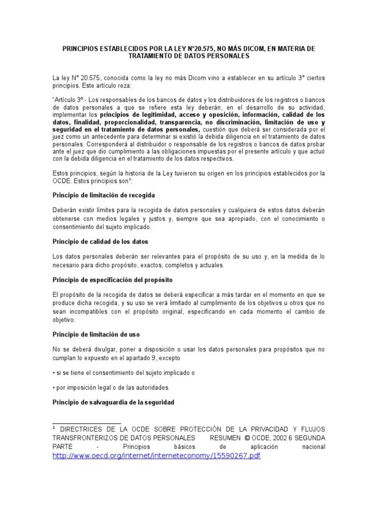 Minuta Principio en Datos Personales (Copia en Conflicto de Tania ...