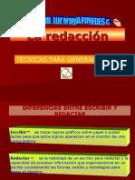 Etapas de Redacción.