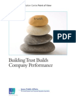 Building Trust Builds Company Performance