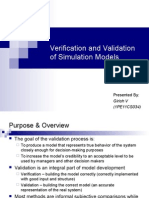 (Sms) verification and validation