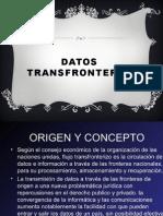 DATOS TRANSFRONTERA