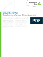 Cloud Security - Developing a Secure Cloud Approach White Paper
