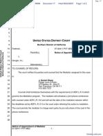 Feldman v. Google, Inc. - Document No. 17