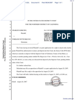 Brown v. Wireless Networks, Inc. - Document No. 9