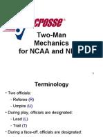 2 Man Mechanics for Lacrosse Officials