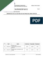 Memoria de Calculo, para Tuberías de Procesos en Planta BPZ- Corvina
