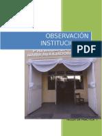 Observacion Institucional