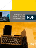 La participación cultural. Relaciones entre la sociedad aragonesa y la cultura