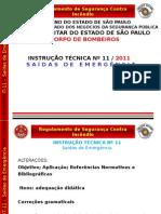 05 - IT 11 Saidas de Emergencia