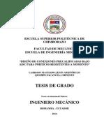 tesis de Ingeniería mecánica