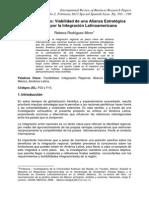 Brasil y Mexico. Viabilidad de Una Alianza Estratégica Conjunta por la Integración Latinoamericana