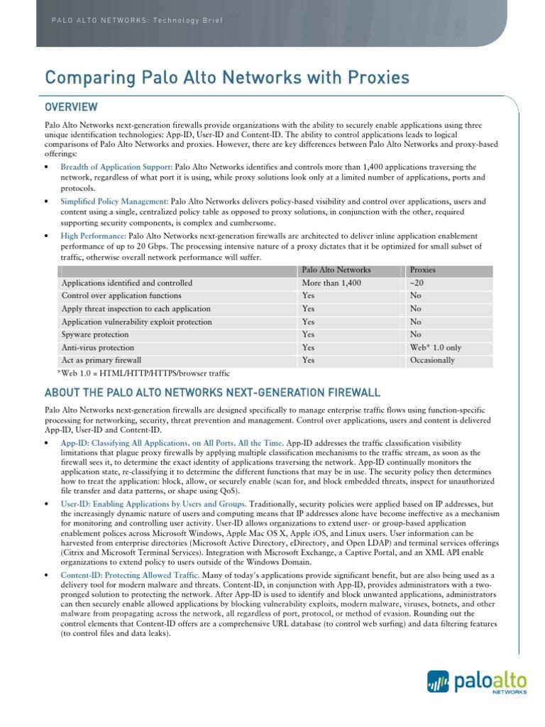 Paloaltonetworks vs Proxy   Proxy Server   Firewall (Computing)