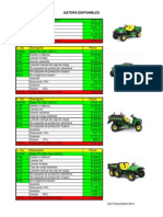 Gators Disponibles Año Fiscal Deere 2014