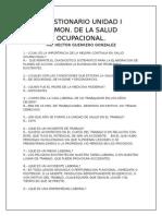 Cuestionario Unidad i Admon Salud Ocupacional.