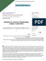 Salud Pública de México - Estudios de cohorte