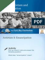 Antietam and Emancipation
