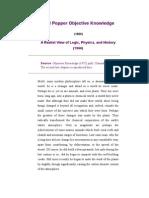 Karl Popper Objective Knowledge