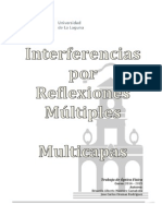 Interferencias por Reflexiones Múltiples