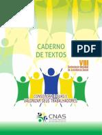 Caderno de Textos - Consolidar o SUAS e valorizar seus trabalhadores