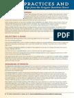 Best Practices & Programming Ideas