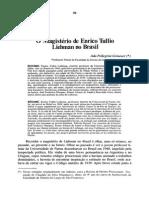 O Magistério de Enrico Tullio Liebman