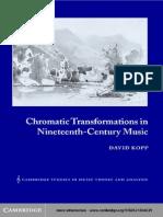 Chromatic Transformations in Nineteenth Century Music (Kopp 2002)