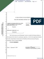 American Federation of Labor and Congress of Industrial Organizations et al v. Chertoff et al - Document No. 31