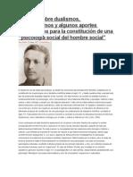 """Apuntes Sobre Dualismos, Determinismos y Algunos Aportes Vigotskianos Para La Constitución de Una """"Psicología Social Del Hombre Social (Duarte- IPS)"""
