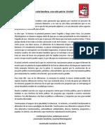 Pronunciamiento oficial de las Juventudes Socialistas del Perú