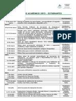 Calendario Académico 2015 Estudiantes Oficial