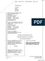 Oracle Corporation et al v. SAP AG et al - Document No. 47