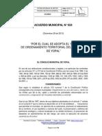 Acuerdo POT No 024 Yopal