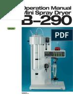 Manual de Operación Mini Sapray Dryer b290