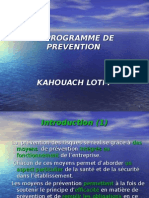 Le Programme de Prevention