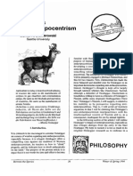 Heideggers Anti Anthropocentrism