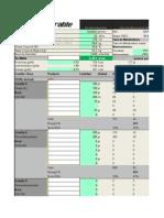 tabla de planificación