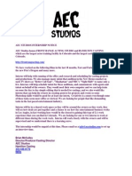 Aec Studios Internship