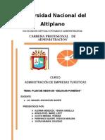 Plan de Negocio DELICIAS PUNEÑAS Final