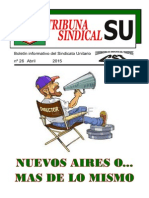 Tribuna Sindical Abril 2015