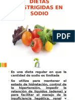 Dietas Restrigidas en Sodio