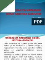 Uređaji za napajanje diesel motora  gorivom