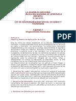 Ley de Responsabilidad Social en Radio y Television(1)