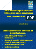 Bases Epidemiologicas de La Salud Publica