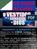 Presentacion de Armadura de DIOS