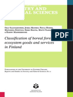 Classification of Boreal Forest Ecosystem Goods and Services in Finland
