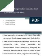 Perjuangan Mengembalikan Kedaulatan Kedah