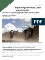 Bolivia Anuncia Que Acogerá El Rally Dakar 2016 en Todas Sus Categorías _ Deportes _ LA TERCERA
