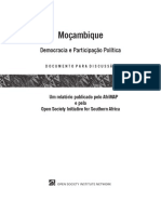 AfriMAP_Moz_ PolPart_Disc_PT Moçambique Democracia e Participação Política