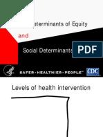 Social Detrminats of Equity