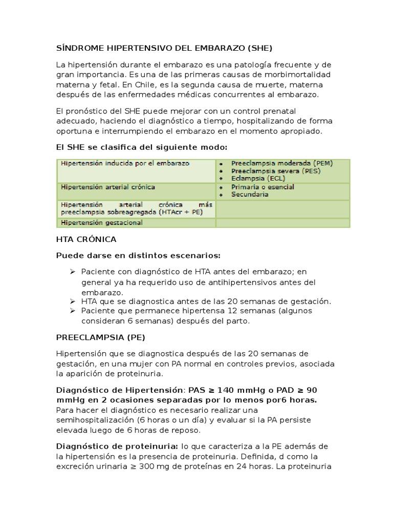 Etiología de la hipertensión crónica y preeclampsia
